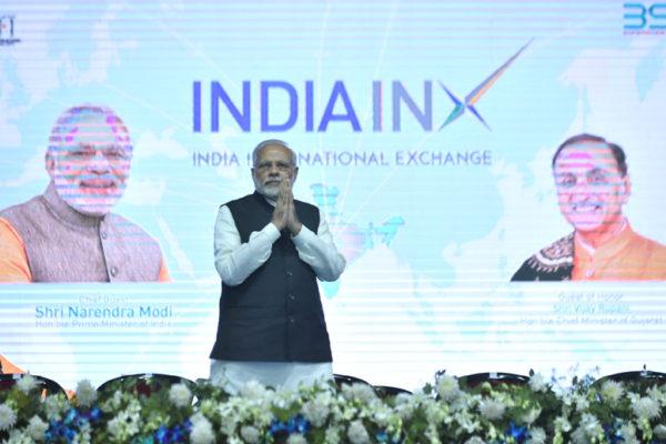 PM Modi in India INX