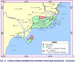 Krishna Godavari Basin map