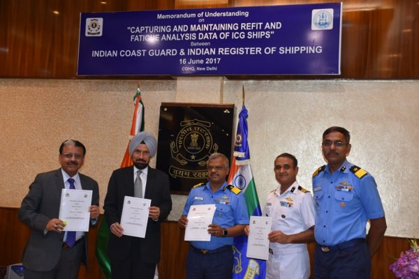 INDIAN COAST GUARD & REGISTER OF SHIPPING