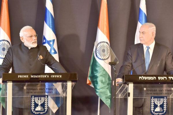PM Modi & Mr. Benjamin Netanyahu in Israel