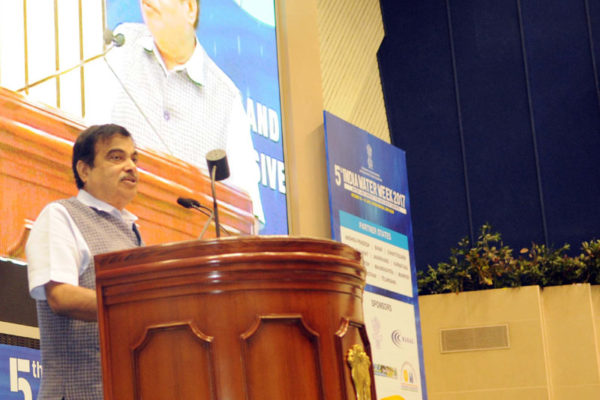 Nitin Gadkari on stage
